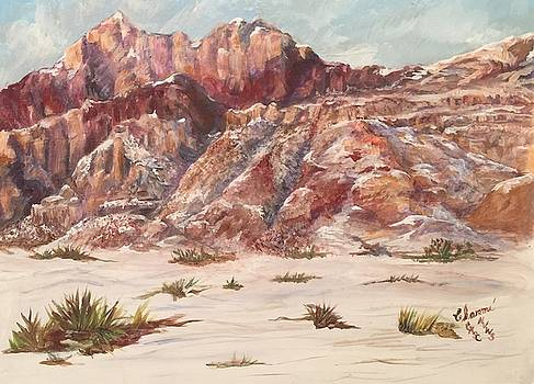 Red Rock in the Snow by Charme Curtin