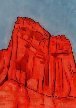 Red Rock Moab by Leonie Higgins Noone