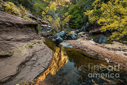 Red Rock River Reflection by Jamie Pham