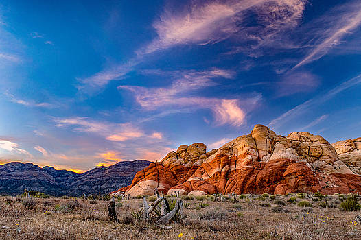 Red Rock Sunset by Jim Simmermon