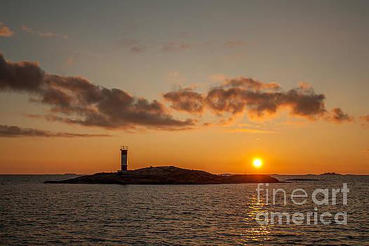 Red Rock Sunset by Marj Dubeau
