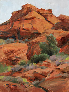 Red Rocks at Snow Canyon by Anna Rose Bain