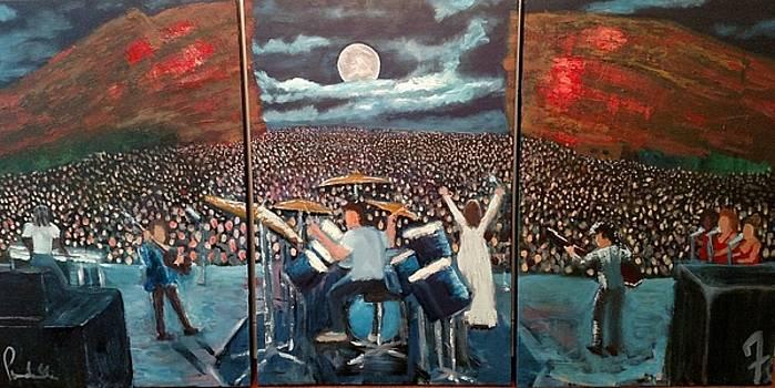 Red Rocks Full Moon by John Prenderville