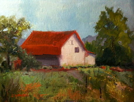 Red Roof Barn by Cynthia Vowell
