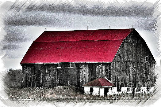 Red Roof Barn by Miss Dawn