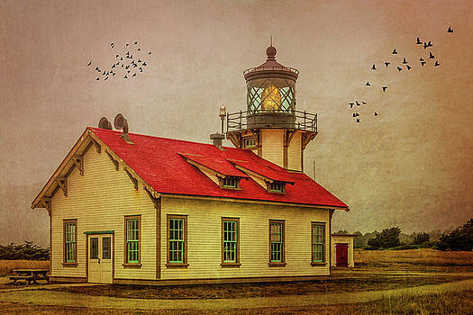 Red Roof Point Cabrillo Light Station by Garry Gay
