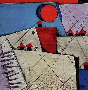 Red Roof Village  by Laura Lein-Svencner
