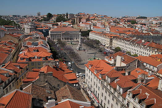 Red Rooftops of Lisbon by Laurel Talabere