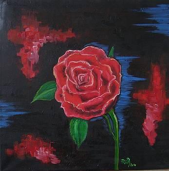 Red rose by Beata Rosslerova