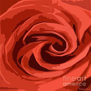 Red Rose by Dragica Micki Fortuna