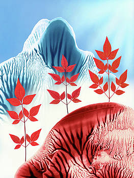 Amy Vangsgard - Red Rose Quarts and Serenity Blue Landscape 1