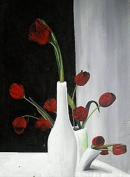 Red Roses by Evans Yegon