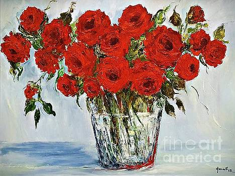 Red Roses memories by Amalia Suruceanu