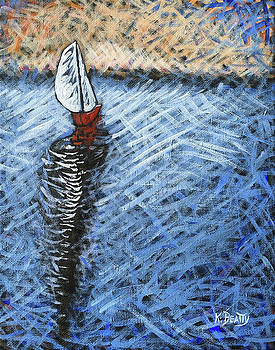 Red Sailboat by Karla Beatty