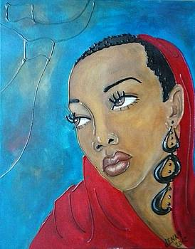 Red scarf by Jenny Pickens
