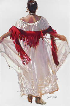 Red Shawl by David Simons