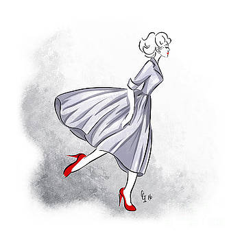 Red shoes red lips by Cindy Garber Iverson