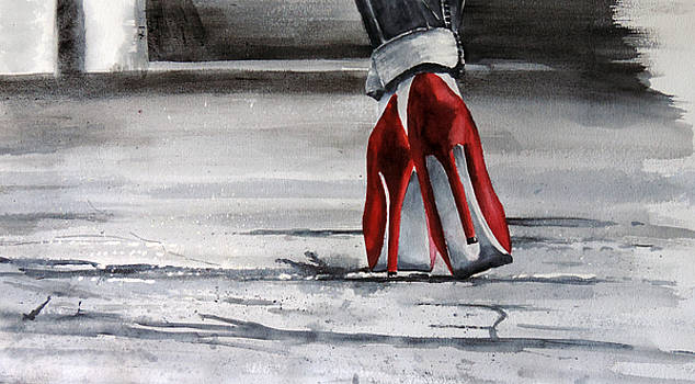 Red Shoes with an Attitude by Richard Hahn
