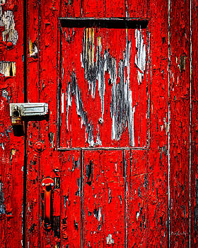 Red Side Barn Door by Bob Orsillo