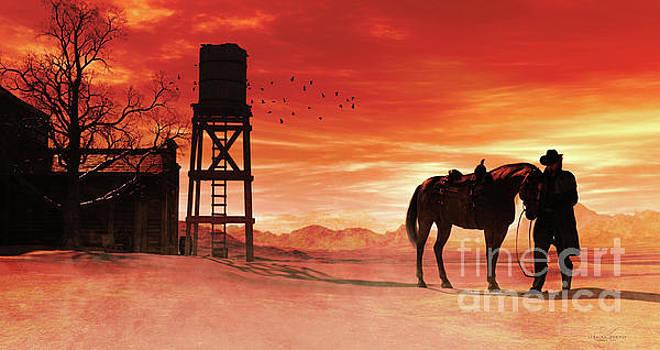 Red Sky at Night Cowboy by Shanina Conway
