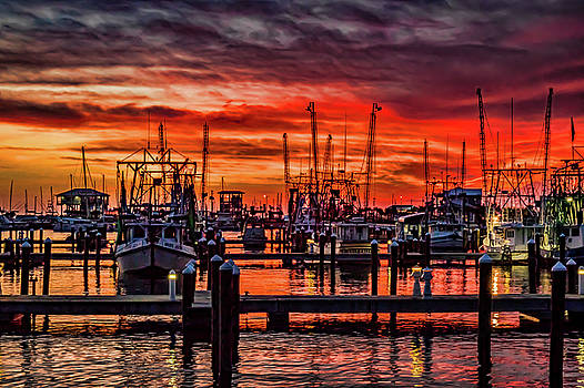 Red Sky at Night, Shrimpers Delight by Jane Anne Sawyer