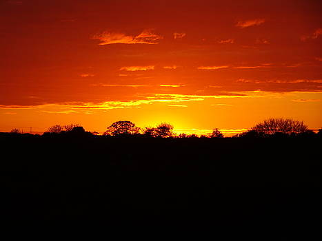 Red sky at night by Susan Baker