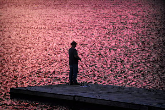 Red Sky Fishing by Pat Cook