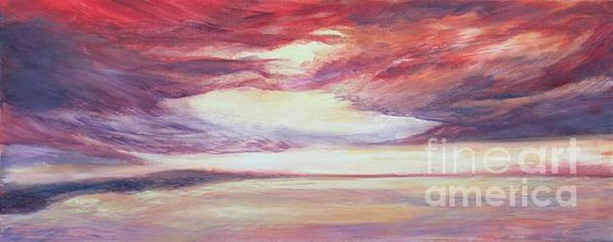Red Sky on the Canal by Vivian Haberfeld