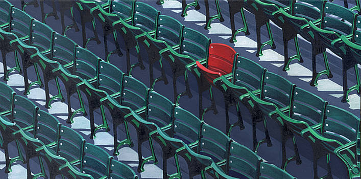Red Sox Red Seat by Jim Connelly