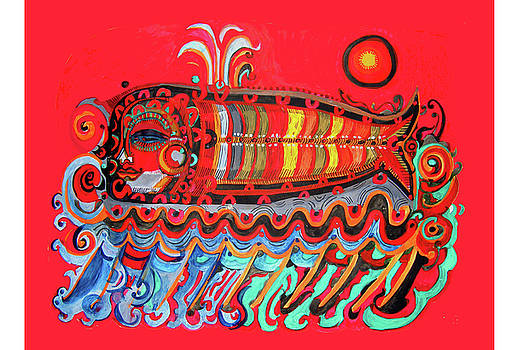 Red Spirit Fish by Lydia L Kramer