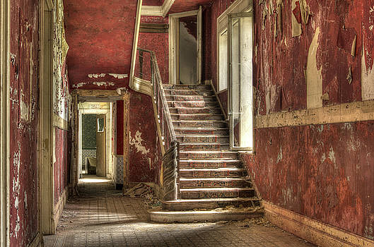 Red Stair Party by Jason Green