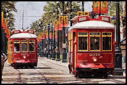 Red Streetcars by Ray Devlin