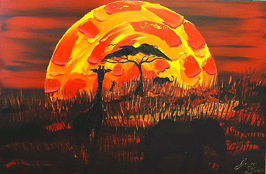 Red Sun Of Africa 1 by Portland Art Creations