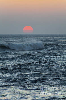 Red Sun with Wave by Sharon Foelz