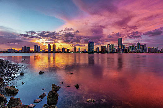 Red Sunset by Claudia Domenig