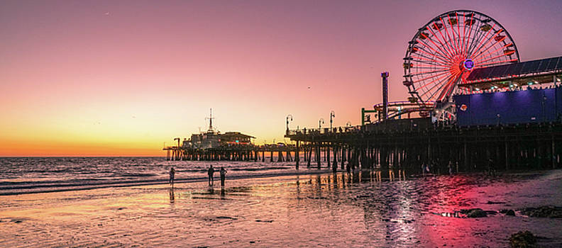 Red Sunset in Santa Monica by Michael Hope