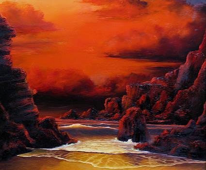 Red Sunset by John Cocoris