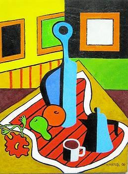 Red Tablecloth by Nicholas Martori