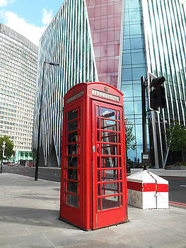 Red Telephone Booth London City by Irina Sztukowski