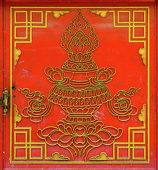 Red Tibetan door by Dutourdumonde Photography