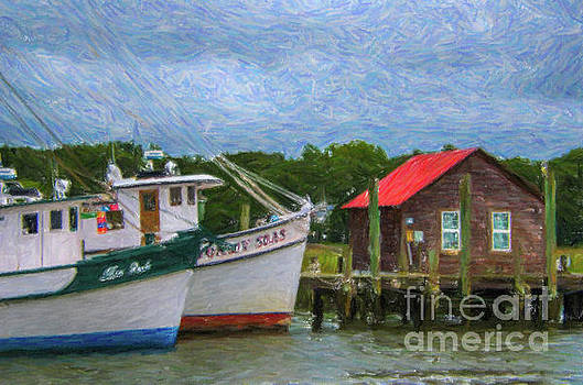 Red Tin Roof over Shem Creek by Dale Powell