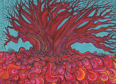 Red Tree by Harriet Emerson