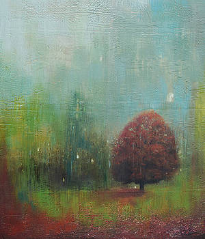 Red tree  by Joya Paul