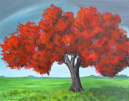 Red Tree by Wendy Smith