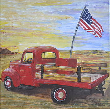 Red Truck by Debbie Baker