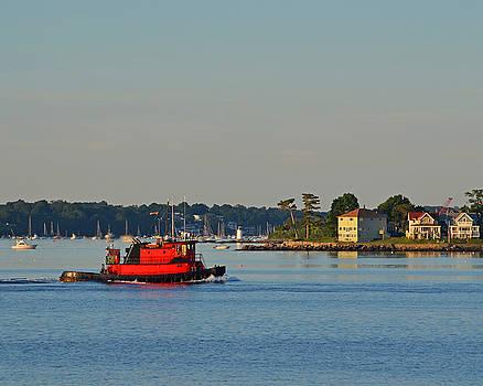 Toby McGuire - Red Tugboat Salem Harbor