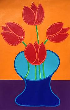 Red Tulips by Matthew Brzostoski