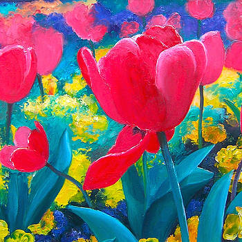 Jan Matson - Red Tulips Painting