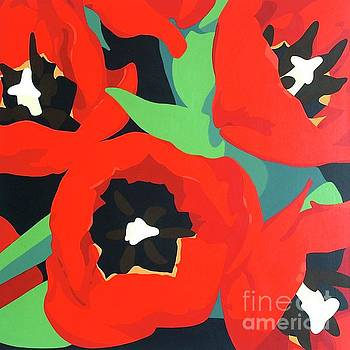 Red Tulips by Susan Porter