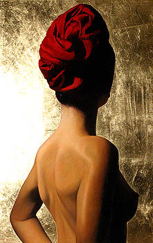 Red Turban by Toby Boothman